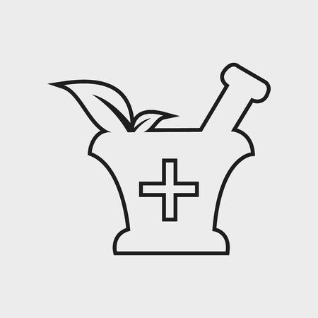 Pharmacy and Medicine line Icon Vektorové ilustrace
