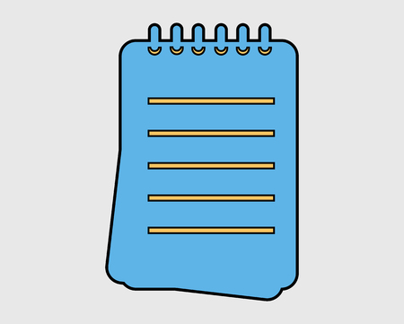 Colorful Notepad Icon on Gray Background