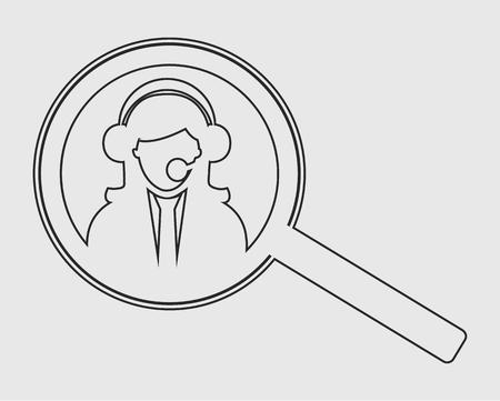 Search customer service line icon