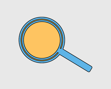 Colorful Search Icon. Magnify Glass on gray Background. Stock Illustratie