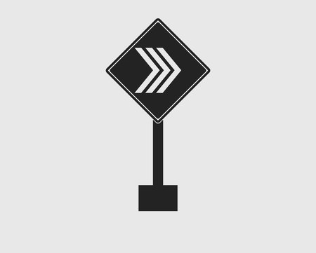 Arrow Sign icon of Highway on gray Background.