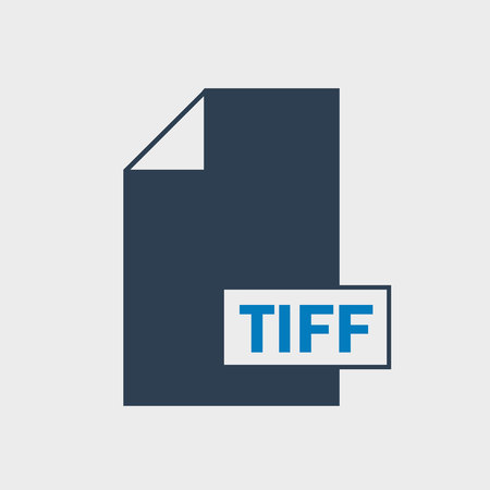 Tag Image File Format (TIFF) file format Icon on gray background.