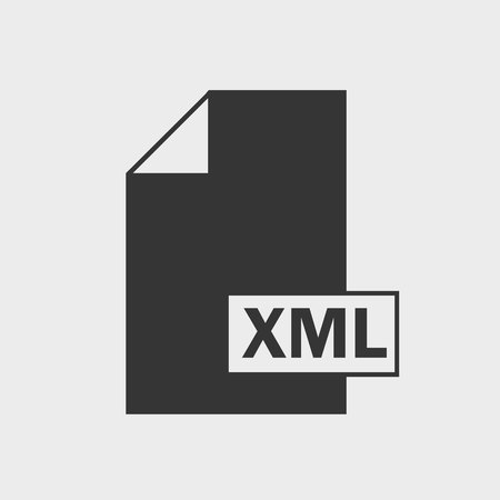 Extensible markup language (XML) file format icon