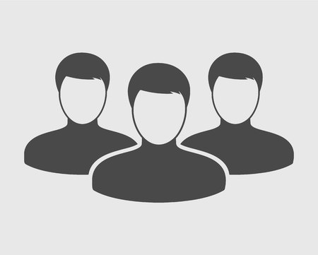 People Icon on gray Background