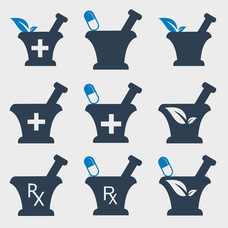 Pharmacy and Medicine Icon set