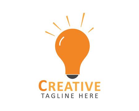 Creative Idea illustration with Light bulb symbol.