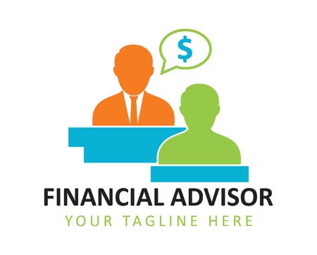 Financial advisor concept illustration Çizim