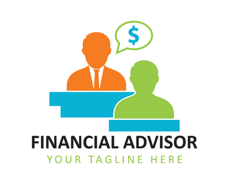 Financial advisor concept illustration Illustration