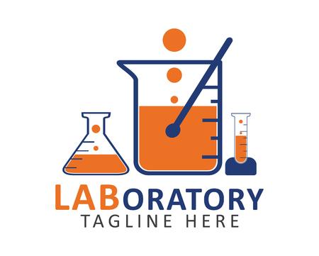 Laboratory logo. Editable vector EPS. Stock Illustratie