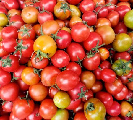 Macro Photo food vegetable tomato cherry.