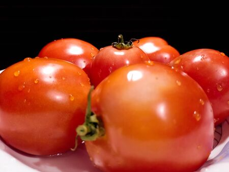 Close-up of fresh, ripe tomatoes