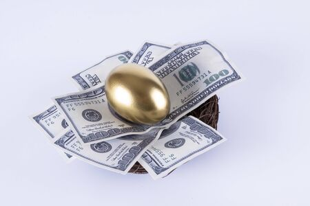 reflection of life: Golden egg and Dollar