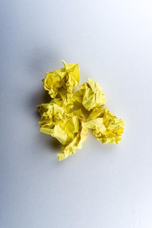 dirty sheet: crumpled paper