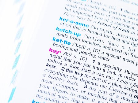 Dictionary Meaning - key 版權商用圖片