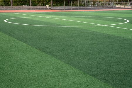 Artificial turf on soccer field