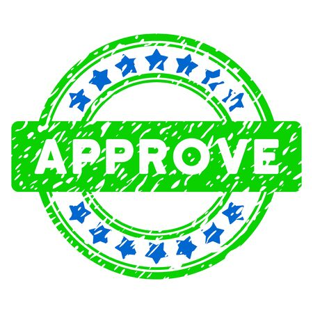 Approve Grunge Stamp vector image. Designed for watermarks.