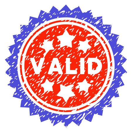 Valid Grunge Stamp vector image. Designed for watermarks. Illustration