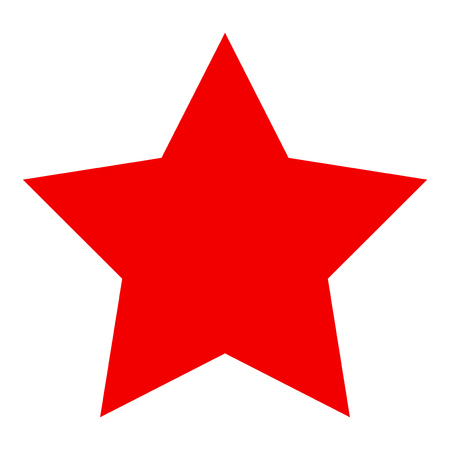 raster: Red Star flat raster pictograph. Stock Photo