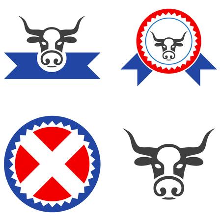 Butchery Award flat vector pictogram set.