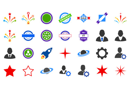 fire crackers: Popular flat vector pictograph collection. An isolated icons on a white background.