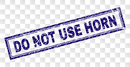 DO NOT USE HORN stamp seal watermark with rubber print style and double framed rectangle shape. Stamp is placed on a transparent background.