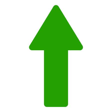 Flèche vers le haut de l'icône vecteur sur fond blanc. Une icône plate isolée illustration de flèche vers le haut avec personne.