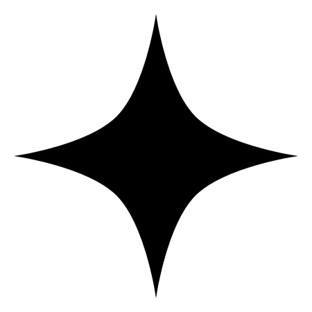 Black star vector icon on a white background. An isolated flat icon illustration of black star with nobody.
