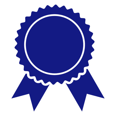 Certificate seal vector icon on a white background. An isolated flat icon illustration of certificate seal with nobody.
