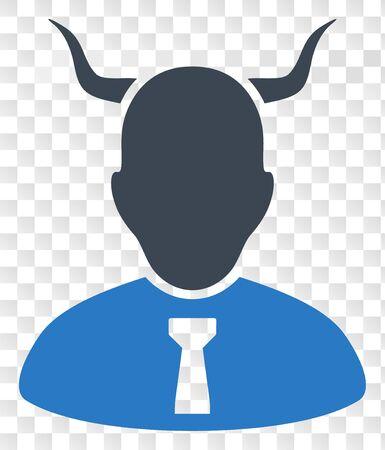 Devil EPS vector pictograph. Illustration contains flat devil iconic symbol on a chess transparent background.