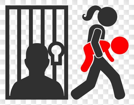 Juvenile justice EPS vector pictogram. Illustration contains flat juvenile justice iconic symbol on a chess transparent background.