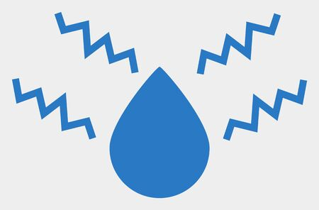 Acid drop raster pictograph. Illustration contains flat acid drop iconic symbol isolated on a white background.