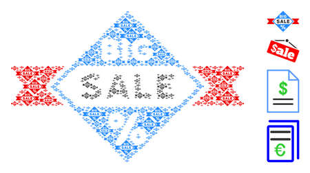 Vector big sale composition is constructed of scattered recursive big sale elements. Fractal composition of big sale. Some other icons are present in this vector.