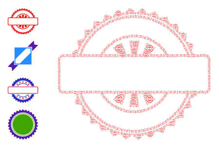 Vector seal stamp template composition is constructed of random recursive seal stamp template pictograms. Recursive composition of seal stamp template. Some other icons are present in this vector. 일러스트