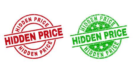 HIDDEN PRICE Round Watermarks with Grunged Style