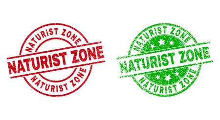 NATURIST ZONE Round Badges Using Unclean Texture
