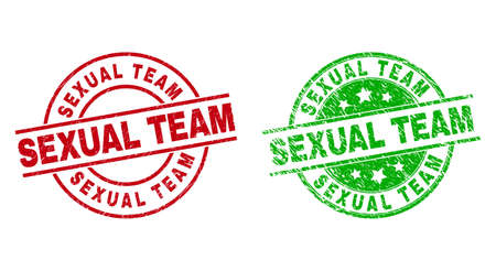 SEXUAL TEAM Round Badges Using Grunge Surface