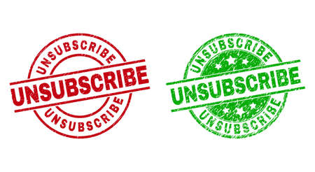 UNSUBSCRIBE Round Seals Using Distress Surface