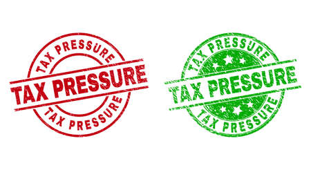 TAX PRESSURE Round Watermarks Using Grunge Surface