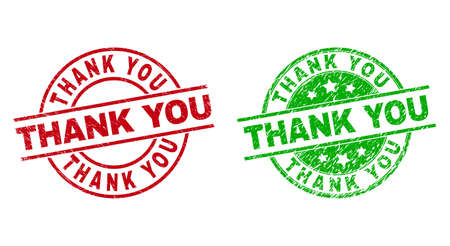THANK YOU Round Stamps Using Unclean Texture
