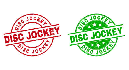 DISC JOCKEY Round Seals with Corroded Surface
