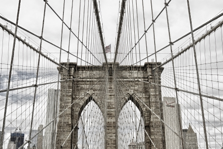 newyork: brooklyn bridge new york usa Stock Photo