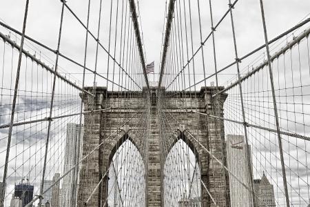 pont de Brooklyn à New York États-Unis