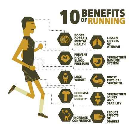 benefits: benefits of running vector design Illustration