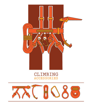 ice axe: orange yellow climbing accessories outfit