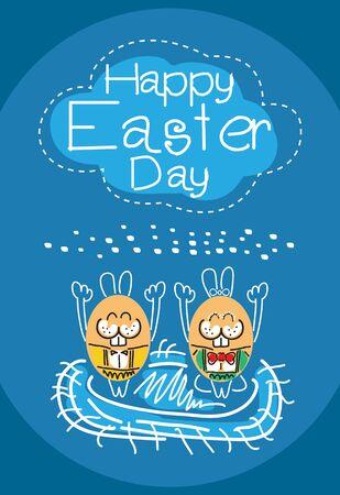 public celebratory event: Happy Easter Day rabbit