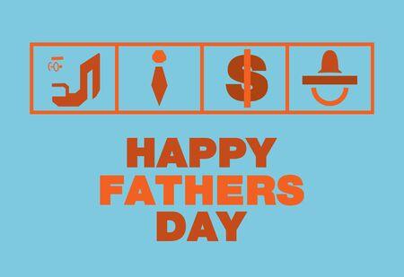 pezones: D�a de padres feliz cardTie dinero Pezones dise�o anaranjado tono azul y