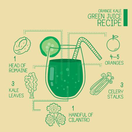 kale: Orange kale, green juice recipes great  detoxify design