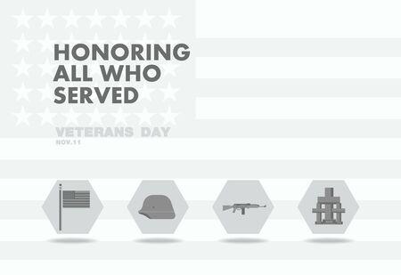 honors: Honors Veterans day,abstact flag flat theme design art