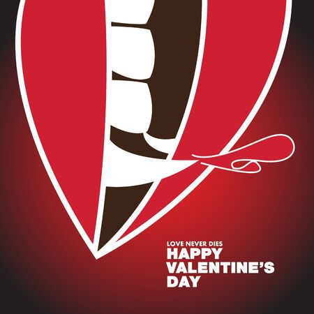 Valentines Day Dracula Theme - Poster Banner Vector flat design art