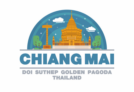 interested: Chiang mai,Thailand symbol flat design art